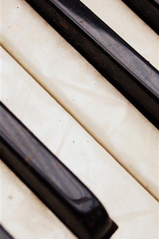 iPhone Wallpaper Piano keys, dust