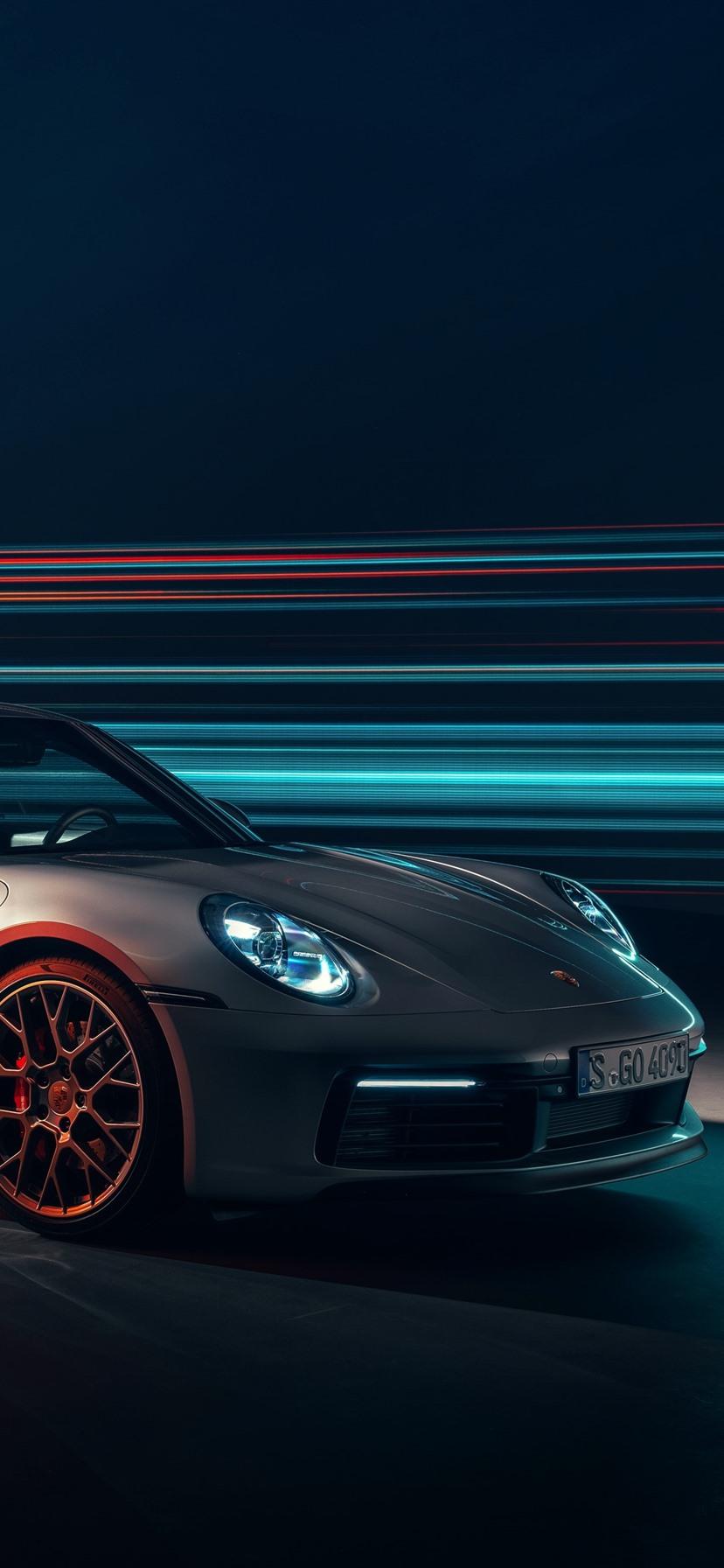 Porsche 911 Carrera 4S Silber Supersportwagen 1125x2436 ...