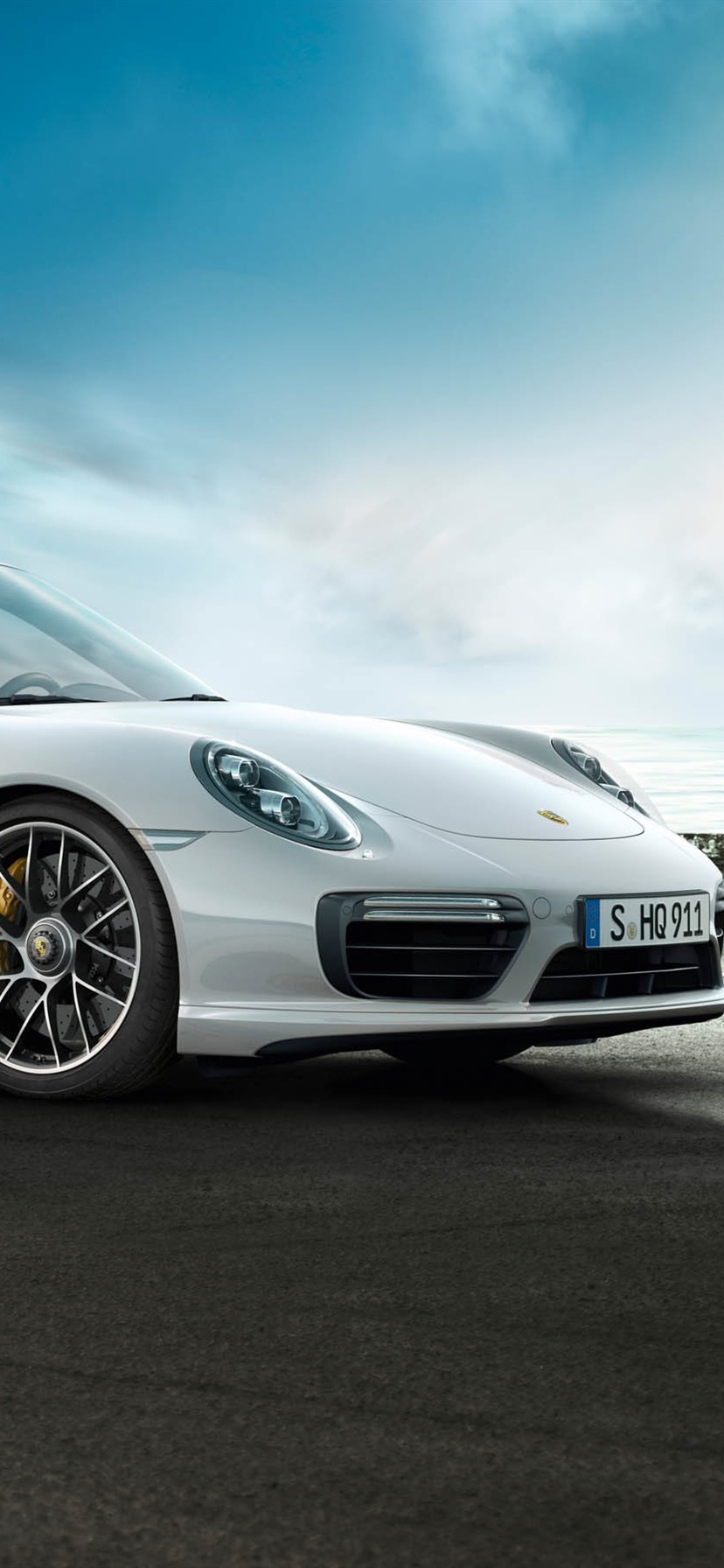 Porsche 911 Turbo White Supercar Side View 828x1792 Iphone 11 Xr Wallpaper Background Picture Image