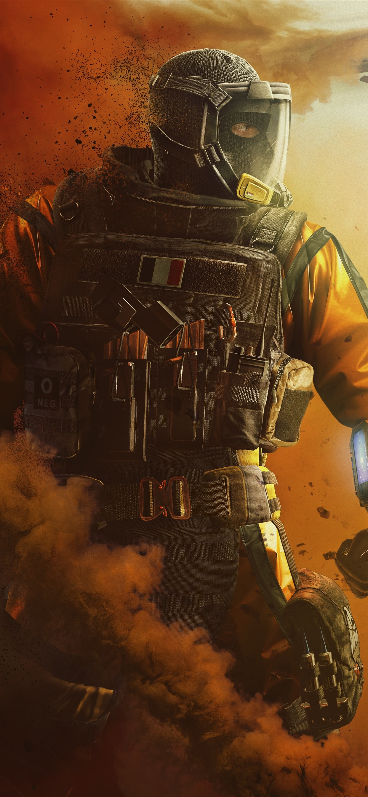 Rainbow Six Siege Soldier Smoke Fighter 1242x2688 Iphone