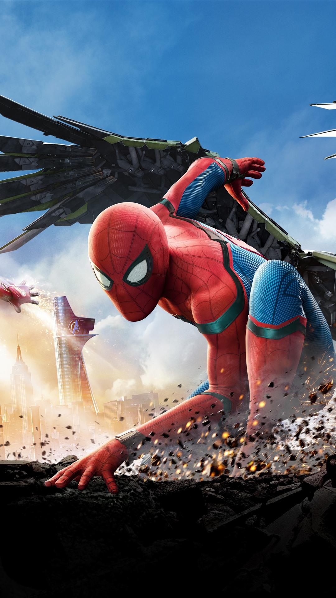 Spider Man Und Iron Man 1242x2688 Iphone Xs Max