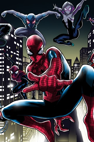 iPhone Wallpaper Spider-man, pose, art picture