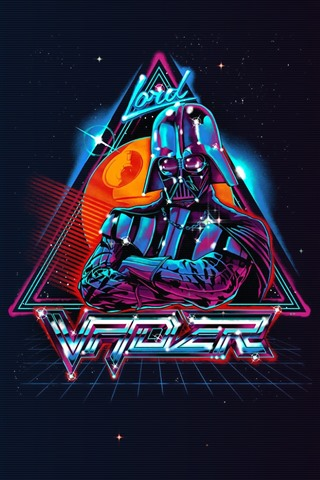 iPhone Fondos de pantalla La guerra de las galaxias, Darth Vader, imagen artística, fondo negro