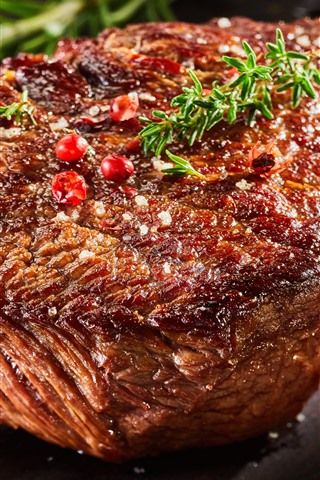 iPhone Fondos de pantalla Bistec, Carne, Barbacoa