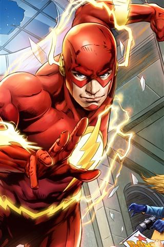 iPhone Fondos de pantalla El flash, DC Comics, héroe