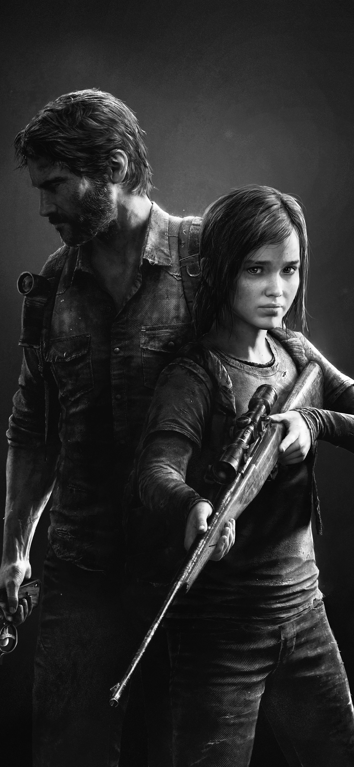 The Last Of Us Black And White Picture 1242x2688 Iphone 11 Pro Xs
