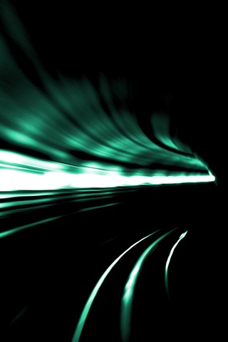 iPhone Wallpaper Tunnel, speed, light lines, darkness