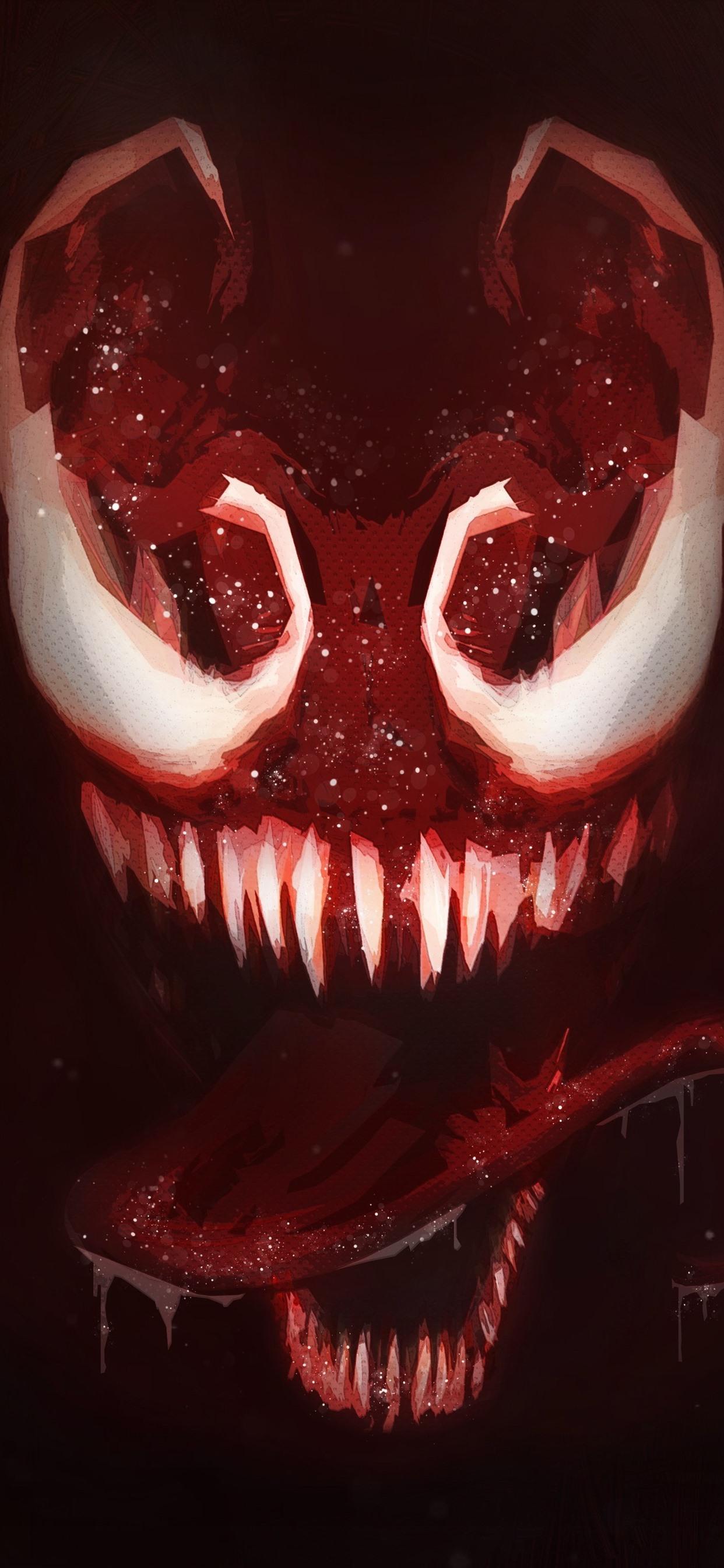 Venom Teeth Horror Art Picture 1242x2688 Iphone Xs Max