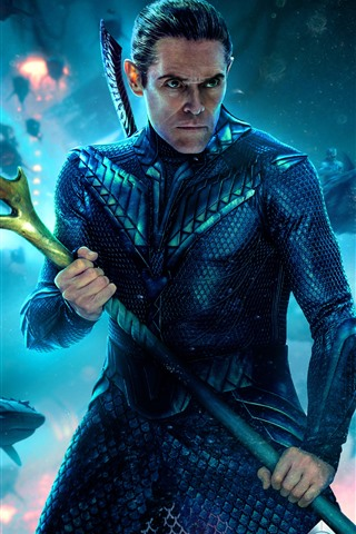 iPhone Wallpaper Willem Dafoe, Vulko, Aquaman 2018