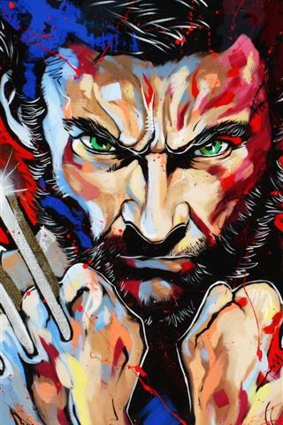 iPhone Hintergrundbilder Wolverine, Logan, Kunstbild