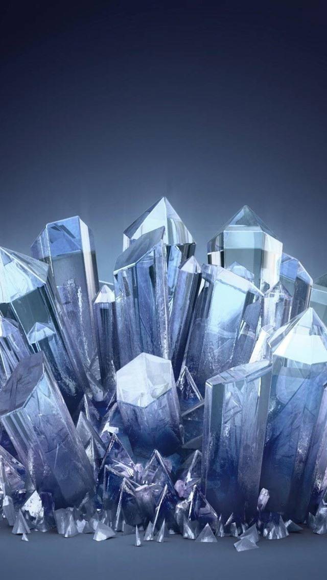 3d Crystals 640x1136 Iphone 55s5cse Wallpaper Background
