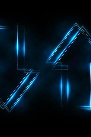 iPhone Papéis de Parede Setas abstratas, luz azul