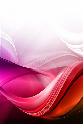iPhone Fondos de pantalla Ondas abstractas, curvas, colores.