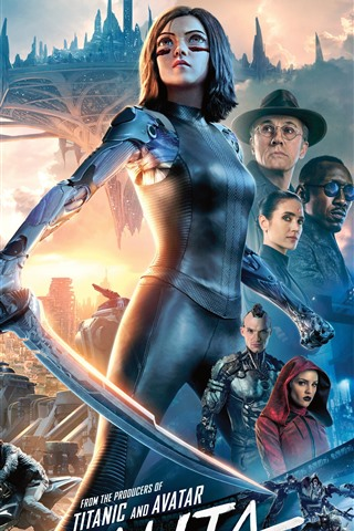 iPhone Wallpaper Alita: Battle Angel 2019