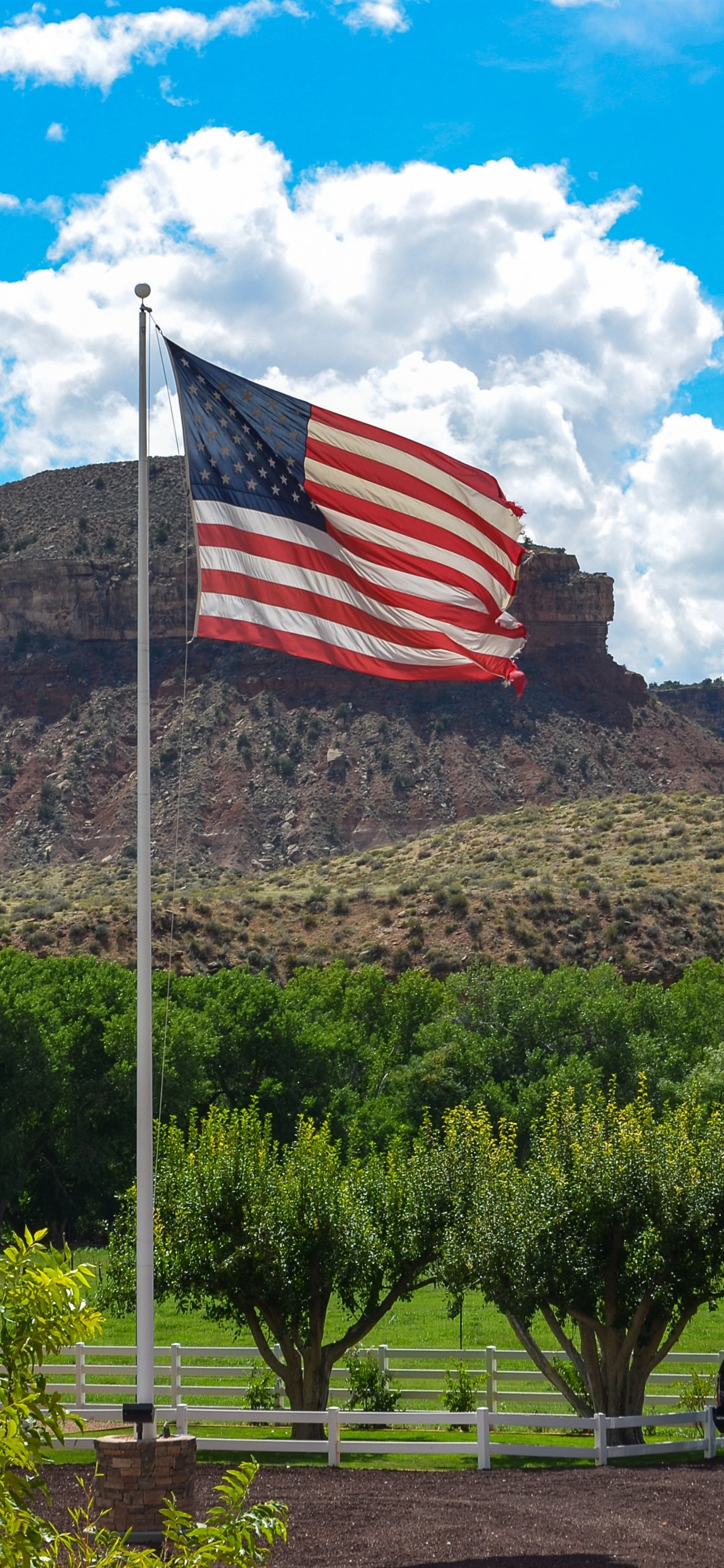 America Flag Farm 1242x2688 Iphone 11 Pro Xs Max Wallpaper