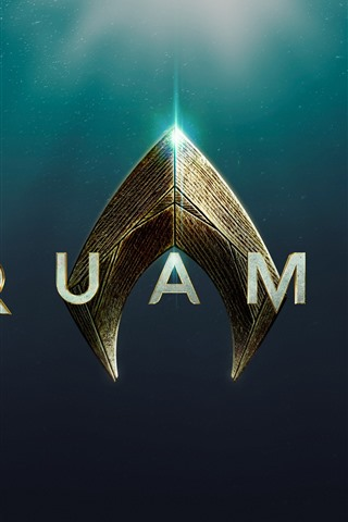 iPhone Papéis de Parede Aquaman, logotipo do filme