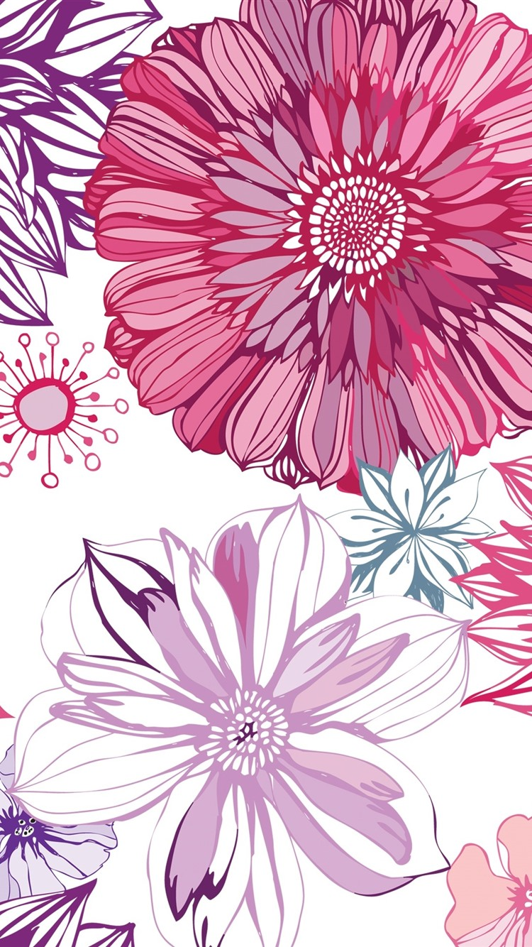 Wallpaper art picture aster flowers texture background - Flower t wallpaper ...