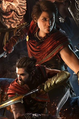 iPhone Wallpaper Assassin's Creed: Odyssey, Xbox game