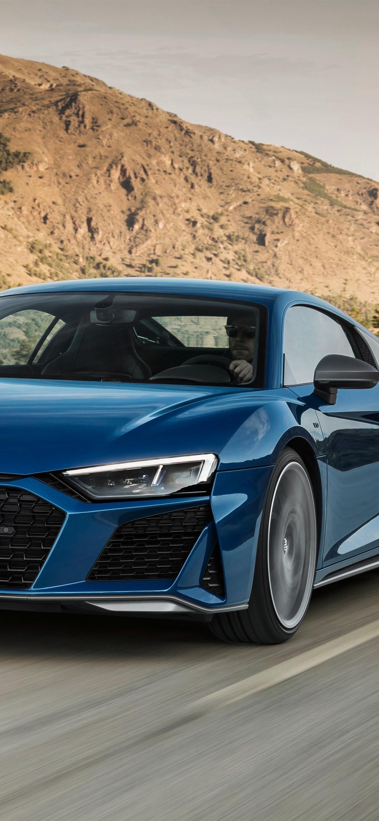 Audi R8 2019 Blue Car Speed 1242x2688 Iphone Xs Max Wallpaper