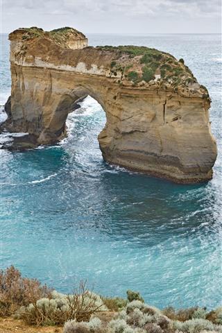 iPhone Wallpaper Australia, arch, sea, nature landscape