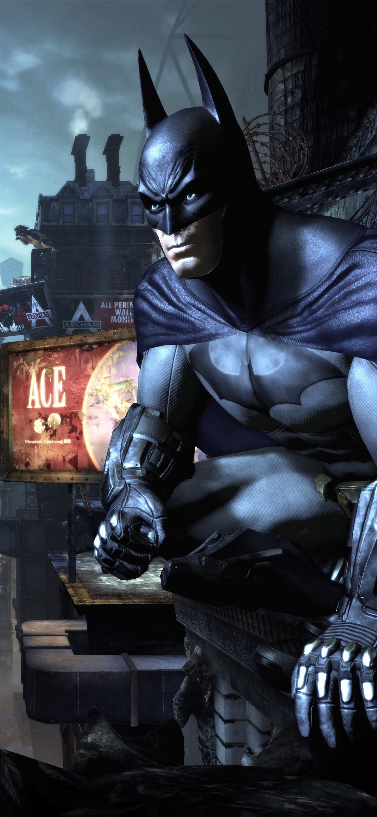 バットマン都市夜pc ゲーム 1242x2688 Iphone Xs Max 壁紙