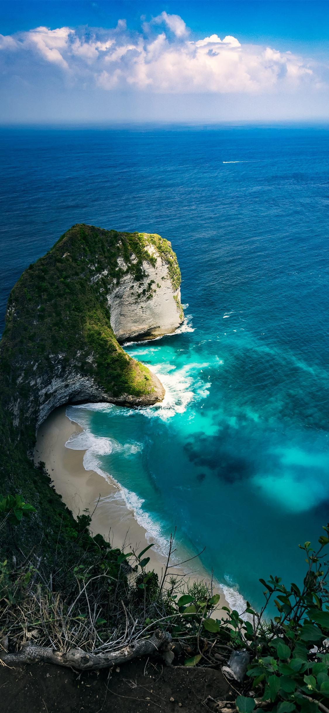 Wallpaper Beautiful Nature Landscape Blue Sea Beach