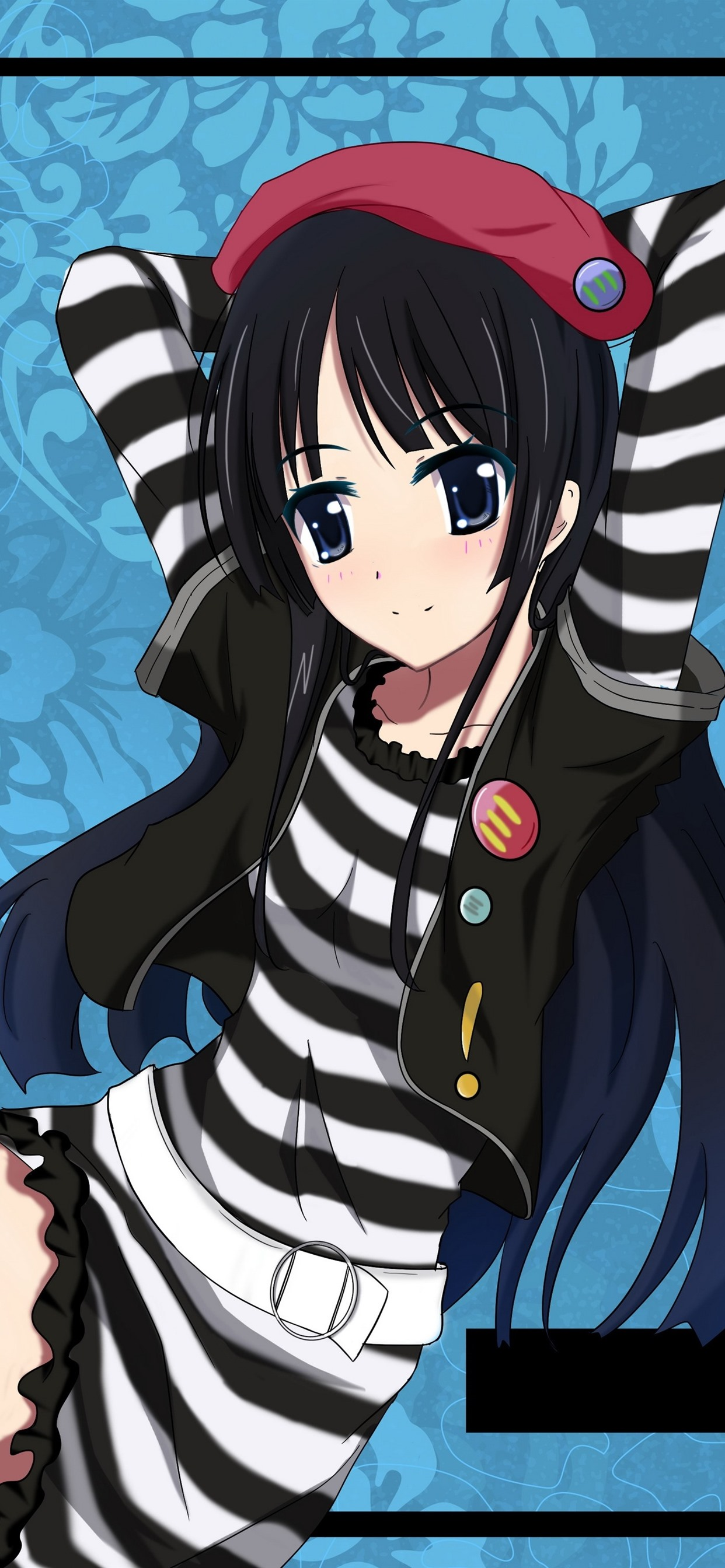 Black Hair Anime Girl Pose 1242x2688 Iphone 11 Pro Xs Max Wallpaper Background Picture Image
