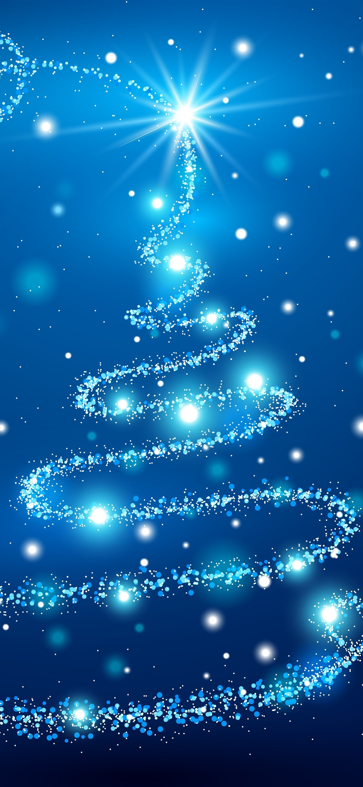 Blue Christmas Tree Shine Stars 1242x2688 Iphone 11 Pro Xs Max Wallpaper Background Picture Image