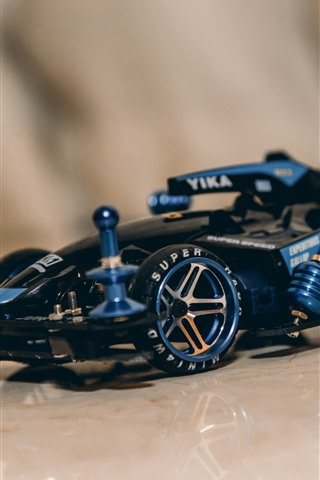 iPhone Wallpaper Blue F1 race car, toy