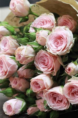 花束 花 ピンクのバラ 1242x2688 Iphone Xs Max 壁紙 背景 画像