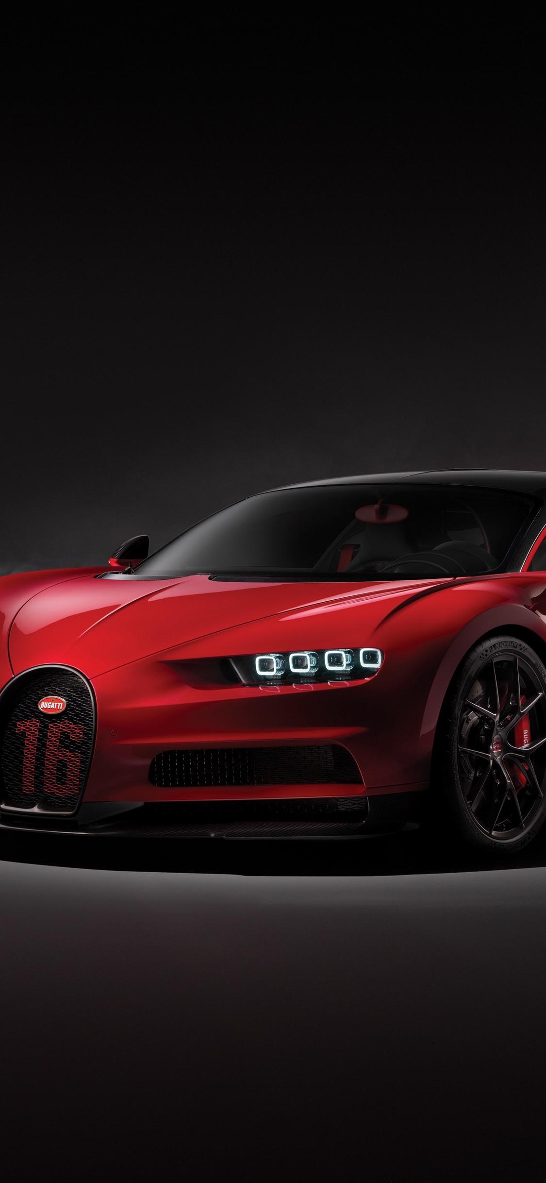 Fondos De Pantalla Vista Frontal Del Supercar Rojo Bugatti Chiron 2018 3840x2160 Uhd 4k Imagen