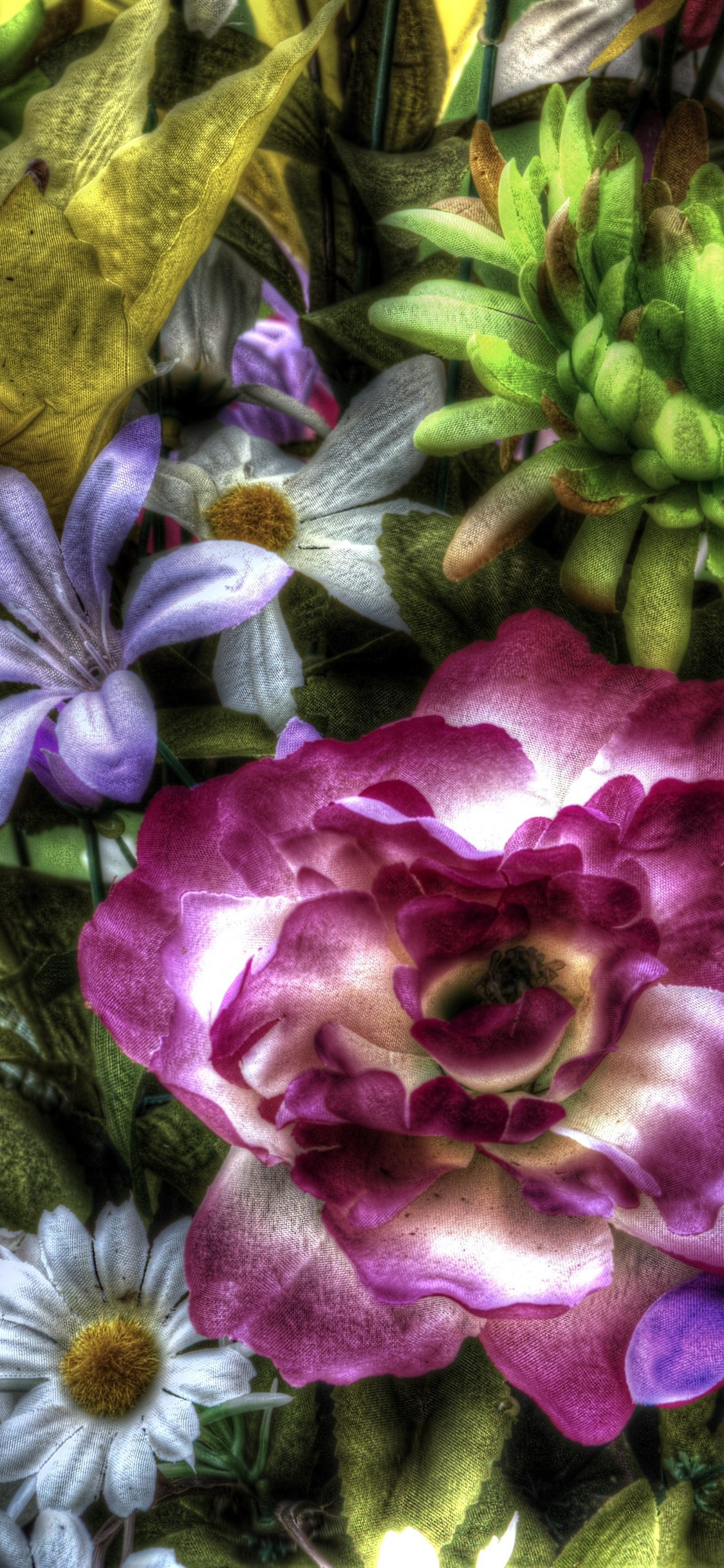 Wallpaper Colorful Artificial Flowers Hdr Style 5120x2880