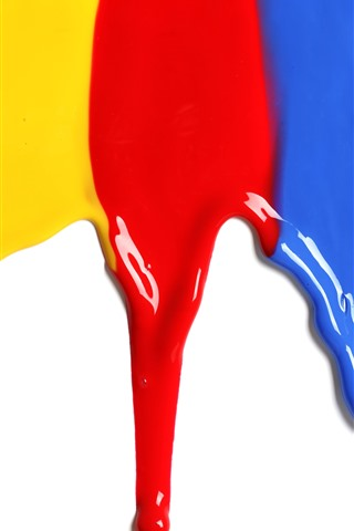 iPhone Wallpaper Colorful paint, rainbow color, white background