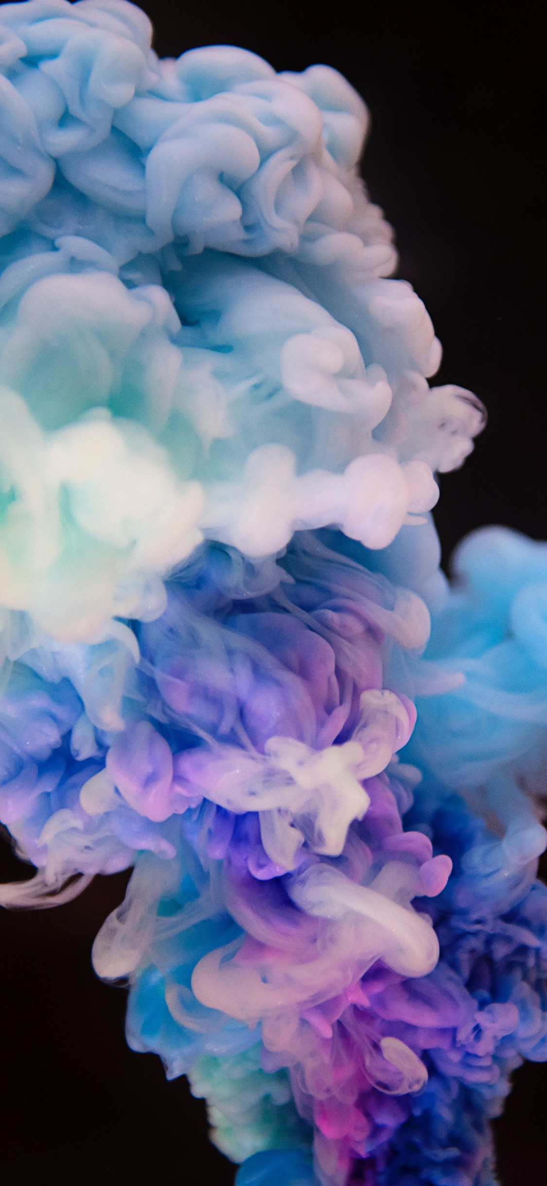 Colorful Smoke Black Background Abstract Picture 1242x2688 Iphone 11 Pro Xs Max Wallpaper Background Picture Image