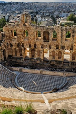 iPhone Fondos de pantalla Coliseo, Grecia