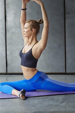 iPhone Wallpaper Fitness girl, yoga, sport