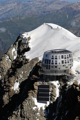 iPhone Fondos de pantalla Francia, montaña, Hotel, nieve