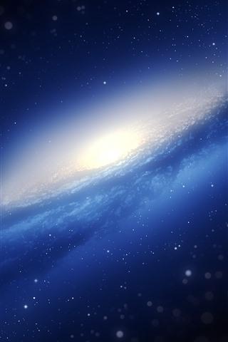 iPhone Wallpaper Galaxy, blue space, stars