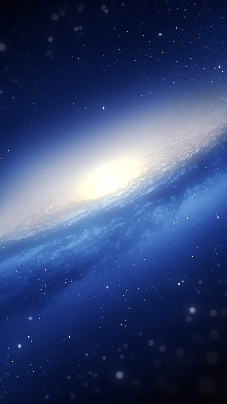 ギャラクシー ブルースペース 星 750x1334 Iphone 8 7 6 6s 壁紙 背景 画像
