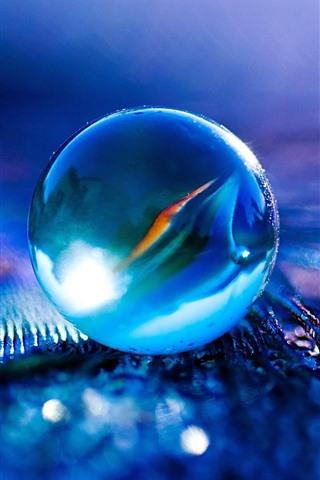 iPhone Wallpaper Glass ball, shine, hazy