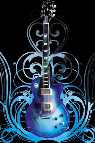 iPhone Wallpaper Guitar, abstract background