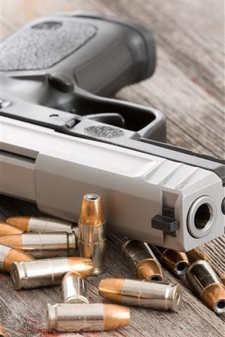 iPhone Wallpaper Gun, weapon, bullets