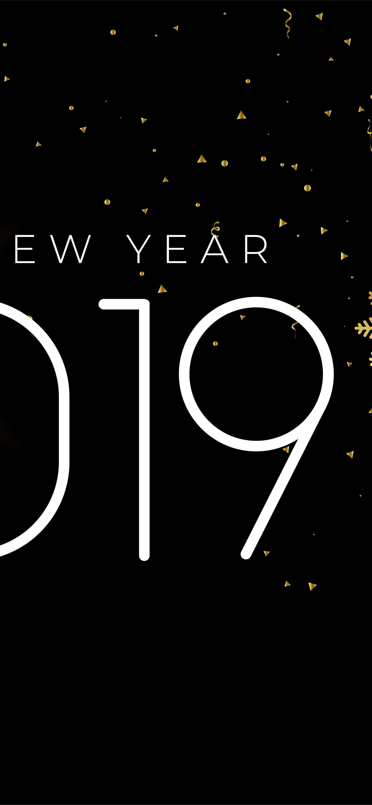 Happy New Year 2019 Snowflakes Simple Style 1242x2688 Iphone 11 Pro Xs Max Wallpaper Background Picture Image