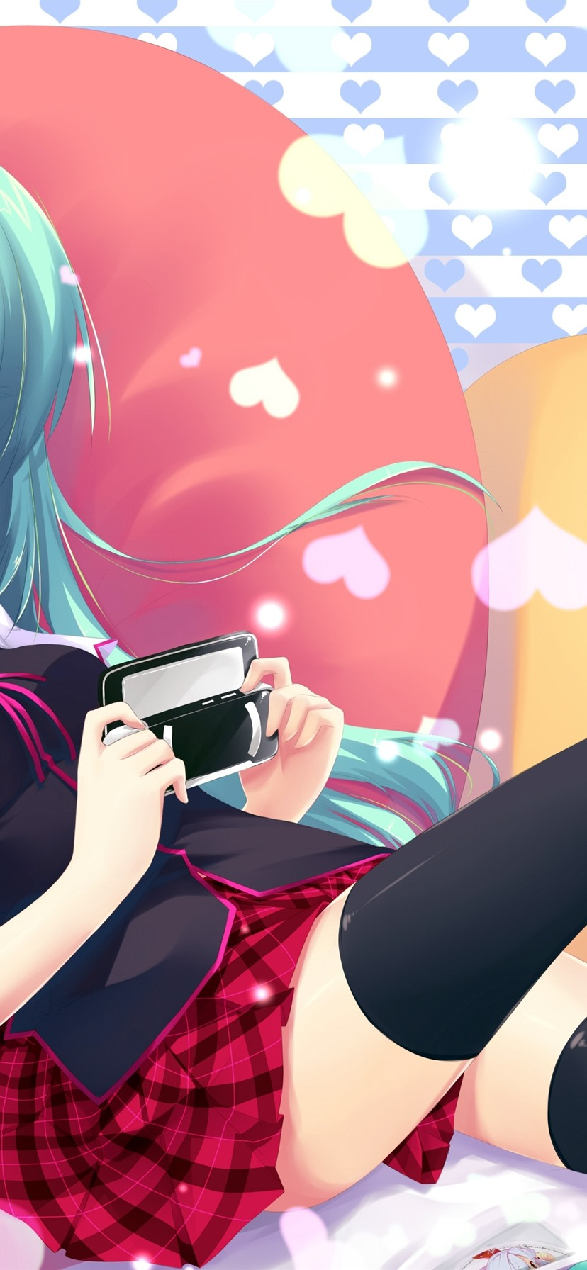 Hatsune Miku Cute Anime Girl Blue Hair 1125x2436 Iphone 11 Pro Xs X Wallpaper Background Picture Image