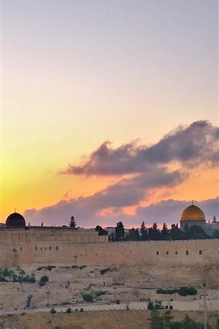 iPhone Fondos de pantalla Ciudad santa jerusalén, israel