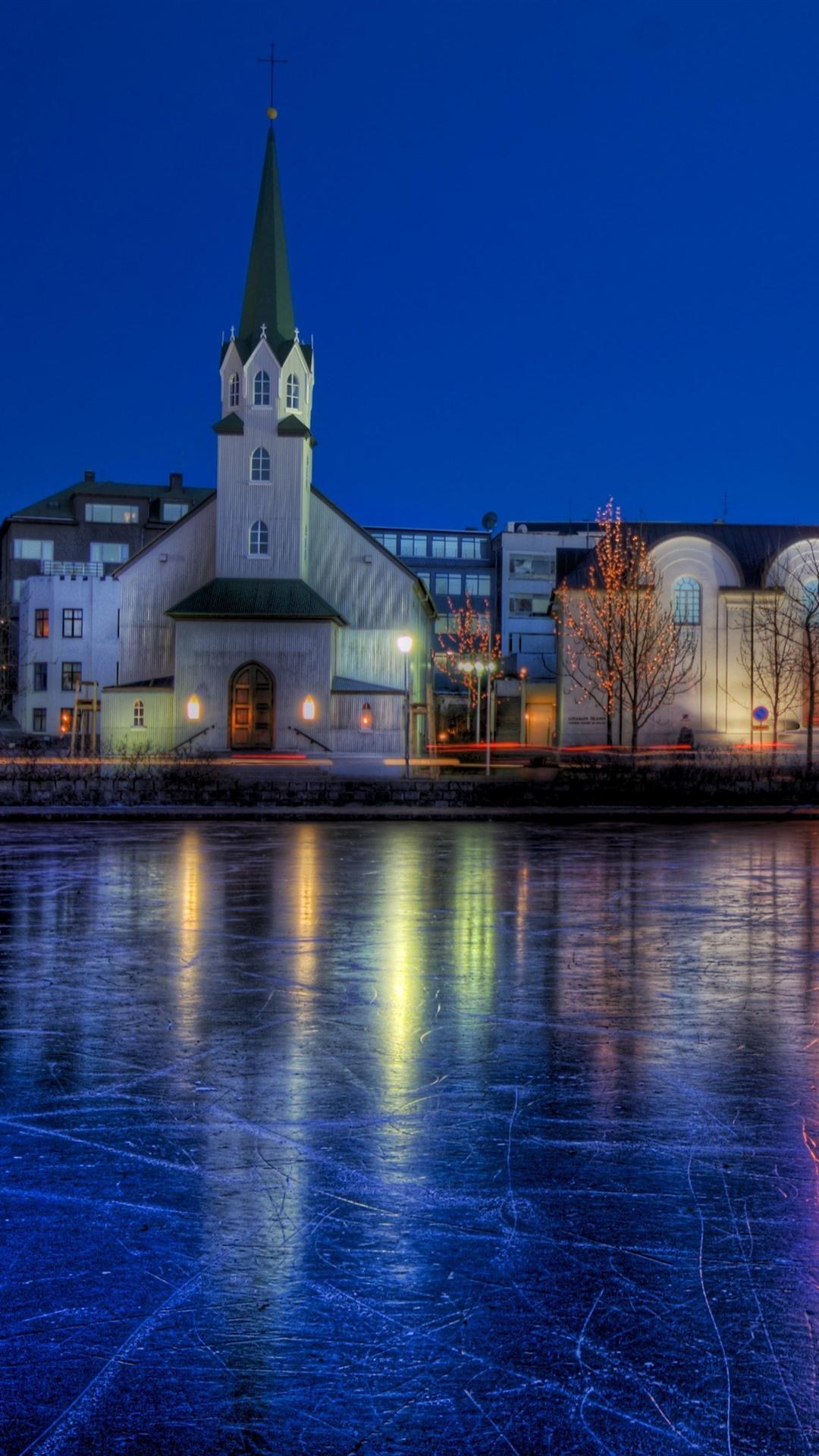 Обои рейкьявик, Исландия, ночь, свет. Города foto 9