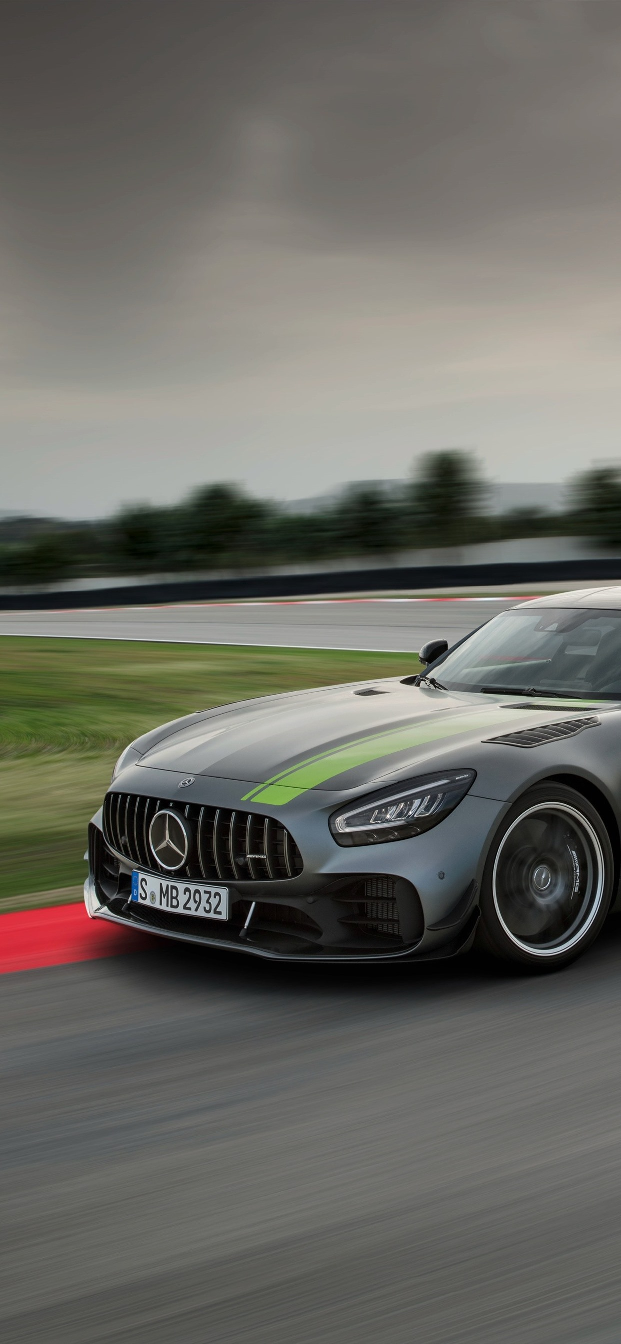 Mercedes Benz Amg Gt R Pro Gray Car Speed 1242x2688 Iphone Xs Max