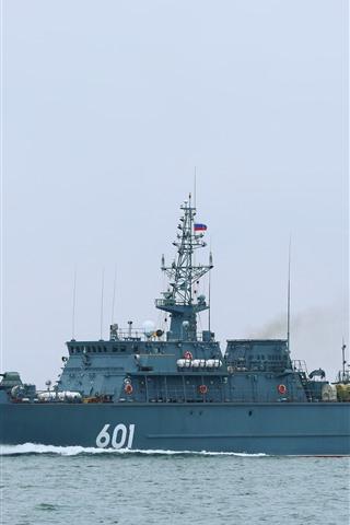 iPhone Wallpaper Military ship, sea