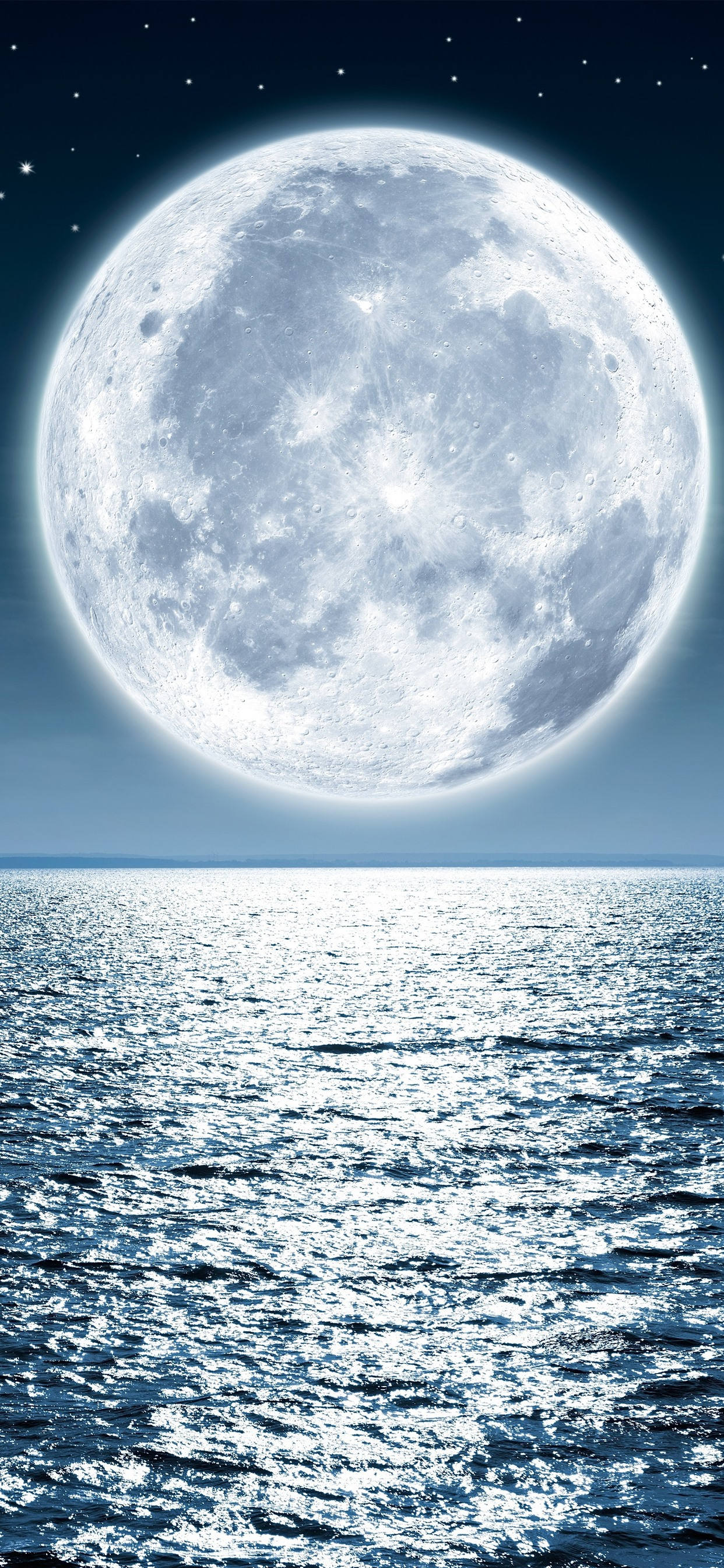月 海 明るい 1242x2688 Iphone 11 Pro Xs Max 壁紙 背景 画像