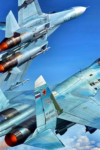 iPhone Wallpaper Multipurpose fighter, flight in sky